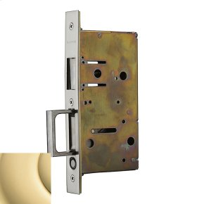 Polished Brass 8603 Pocket Door Strike with Pull