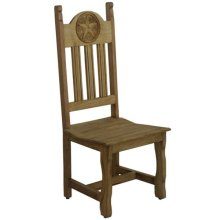 Dining Chair W/Wood Seat and Star