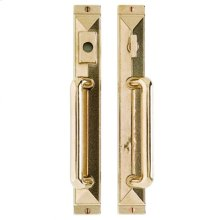 "Mack Entry Sliding Door Set - 1 3/4"" x 13"" Silicon Bronze Brushed"