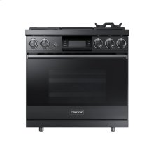 "36"" Pro Dual-Fuel Steam Range, Graphite Stainless Steel, Natural Gas"
