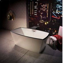 WHT THERMOMASSEUR TUB W/CRYSTAL ROCK DECK & PC OF *DISPLAY*