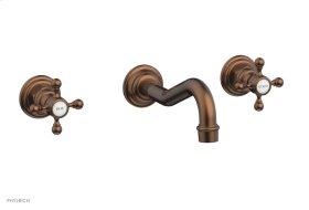 HENRI Wall Tub Set - Cross Handle 161-56 - Antique Copper