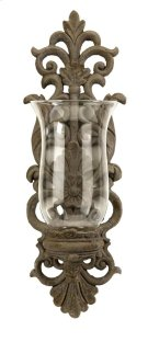 Pollianna Wall Sconce with Glass Hurricane Product Image