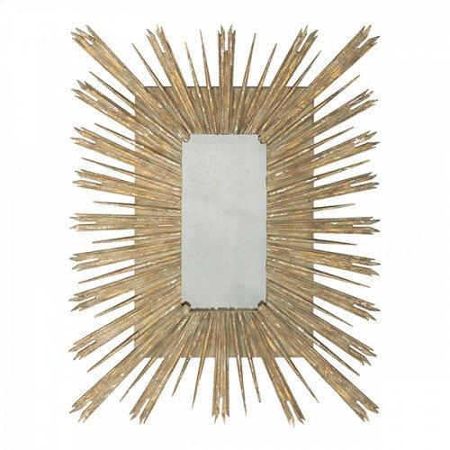 Rectangular Gold Skovde Mirror