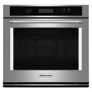 "KitchenAid27"" Single Wall Oven with Even-Heat True Convection - Stainless Steel"