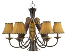 Old River Canoe Chandelier - Large