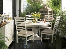 Round Pedestal Table - Linen