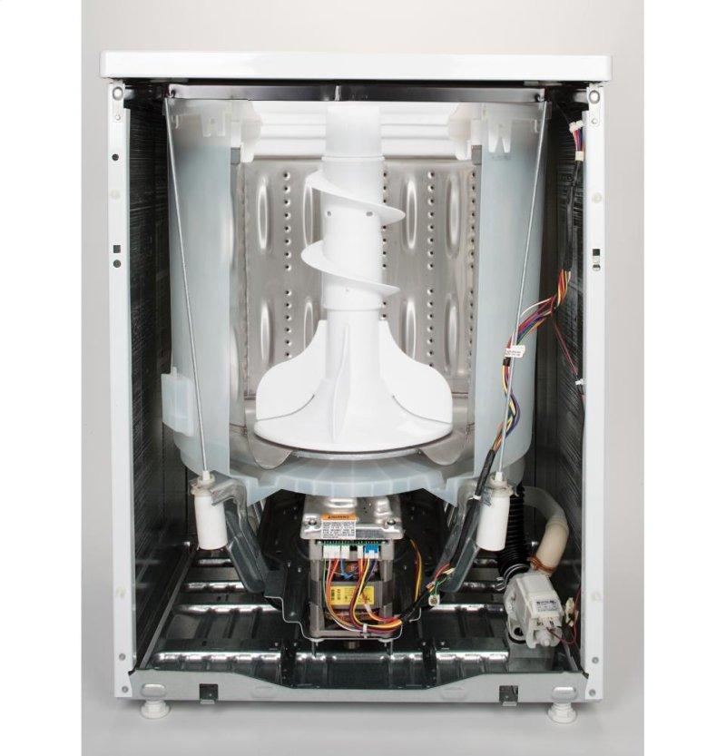 GE® 3 9 DOE cu  ft  stainless steel capacity washer