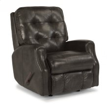 Devon Leather Swivel Gliding Recliner without Nailhead Trim