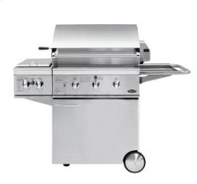 "30"" All Grill for Built-In or On Cart Applications (shown with Optional Sideburner)"