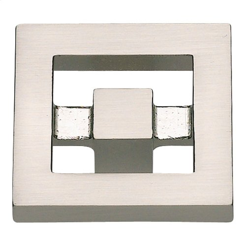 Nobu Square Knob 1 3/8 Inch - Brushed Nickel