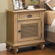 Coventry - Shutter Door Nightstand - Weathered Driftwood Finish