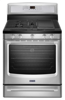 Maytag® 30-inch Wide Gas Range with Convection and Power Preheat - 5.8 cu. ft. - Stainless Steel