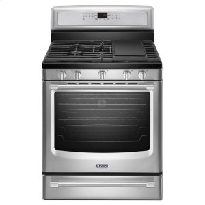 MaytagMaytag(R) 30-inch Wide Gas Range with Convection and Power Preheat - 5.8 cu. ft. - Stainless Steel