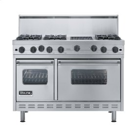 "Stainless Steel 48"" Open Burner Range - VGIC (48"" wide, six burners 12"" wide char-grill)"