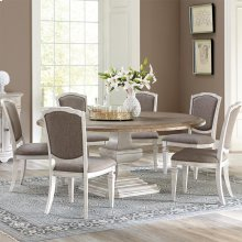 Elizabeth - Upholstered Side Chair - Smokey White Finish