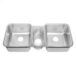 American StandardPrevoir Stainless Steel Undermount 41 Inch by 18-3/4 Inch 3-Bowl Kitchen Sink - Brushed Stainless Steel