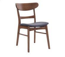Simplicity - Side Chair Wood Back W/uph Blue Seat
