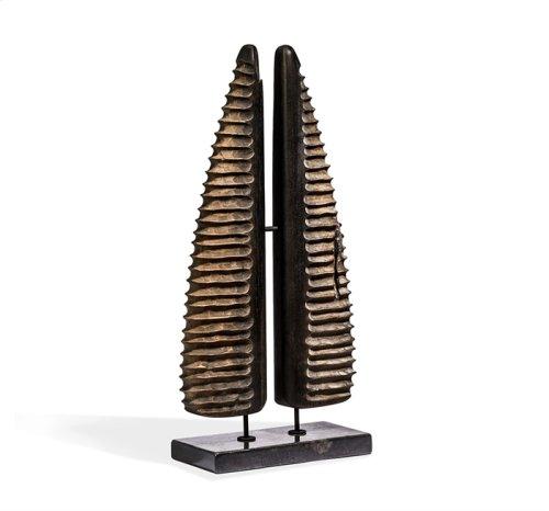 Terra Abstract Horn Sculpture - Small