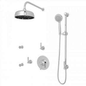 Polished Chrome Holborn Thermostatic Shower Package with Holborn Metal Lever