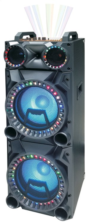 "2x12"" Portable bluetooth Party Speaker"