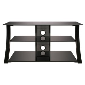 High Gloss Black Finish Flat Panel Audio/Video Furniture -