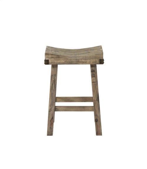 Emerald Home Valencia Saddle Stool-natural Reclaimed Pine Finish (2/ctn) D559-26