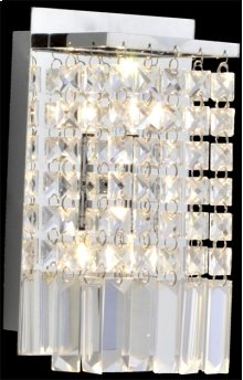 Wall Lamp, Chrome/crystals, Type Jc/g4 20wx2