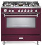 "Burgundy 36"" Designer Gas Range Product Image"