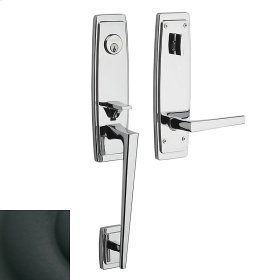 Satin Black Palm Springs 3/4 Escutcheon Handleset