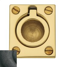 Distressed Oil-Rubbed Bronze Flush Ring Pull