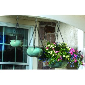 Hanging Planter w/ black chain - Set of 3 (Min 2 sets)