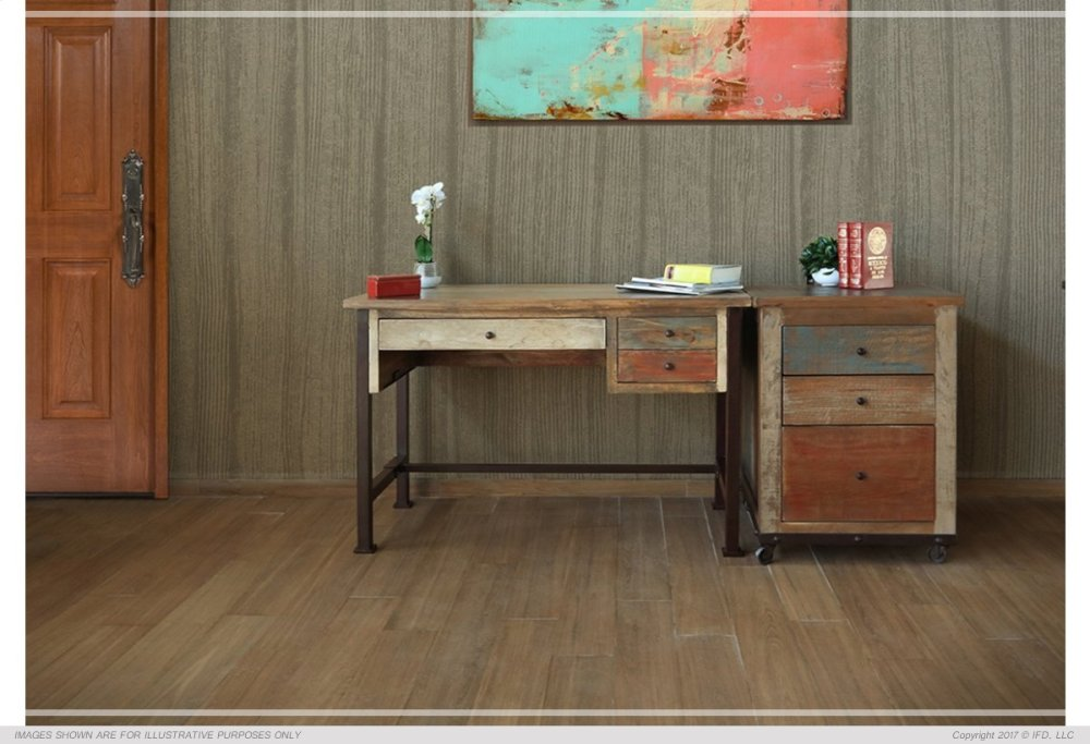 IFD968DESK In By International Furniture Direct In Prescott, AZ   Writing  Desk, Reclaimed Wood Finish