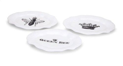 TY Honeybee Plates - Ast 3