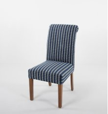 Roll top wood leg chair