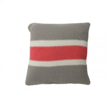 Pillow 50x50 cm TRICOLORE grey-pink