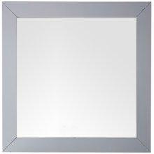 "Weston 40"" Rectangular Mirror, Silver Gray"
