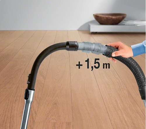 SFS 10 Flexible suction hose extension For an additional 4 ft reach when vacuuming.