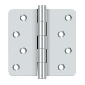 "4""x 4""x 1/4"" Radius Hinges / Zig-Zag - Polished Chrome"