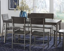 Raventown Dining Room Table with Bench & 4 Chairs