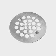 Shower strainer for plastic oddities shower drains