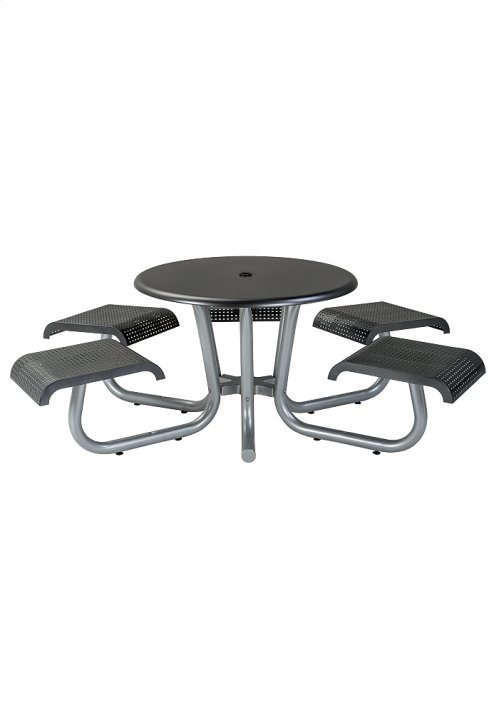 """42"""" Round Picnic Table with 5 Seats (ADA Compliant), Square Pattern"""