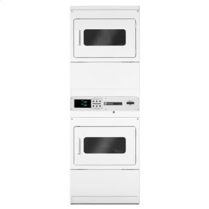 """MaytagMaytag® 27"""" Commercial Single-Load Electric Stack Dryer - White"""