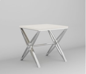 End Table Galala Top W/ Stainless Base Rta
