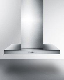 "48"" Wide Island Range Hood In Stainless Steel, Made In Spain With A Rectangular Canopy Design"