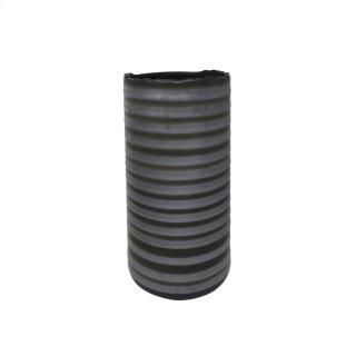 "Ceramic Vase 2 Tone 15.5"", Gray"