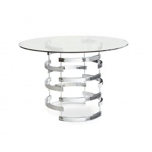 Steve Silver Co.Tayside 45 inch Round Glass Top Dining Table