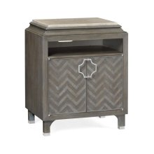 Pewter Oak Nightstand