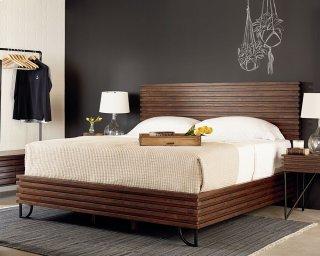 Boho Stacked Slat Bedroom With Valet