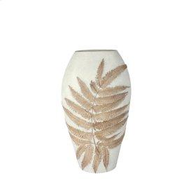 """White Fern Vase 11"""""""